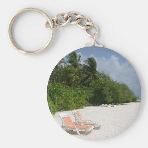 Beach Chairs Keychains