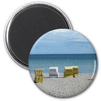 Beach chairs magnet