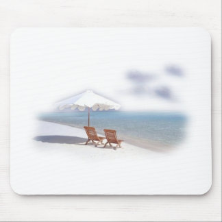 Beach chairs mouse pad