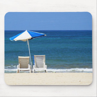 Beach chairs mouse pads