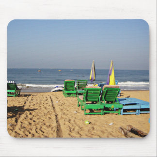 Beach Chairs on Candolim Beach Goa India Mouse Pad
