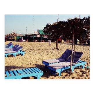 Beach Chairs on Candolim Beach in Goa India Postcard