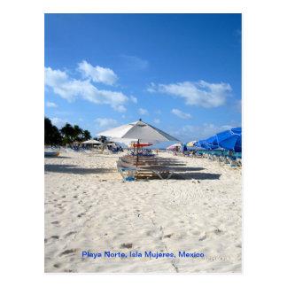 Beach Chairs on Isla Mujeres Postcard