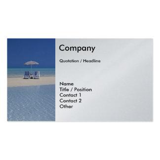 Beach Chairs on Sandbar business card template