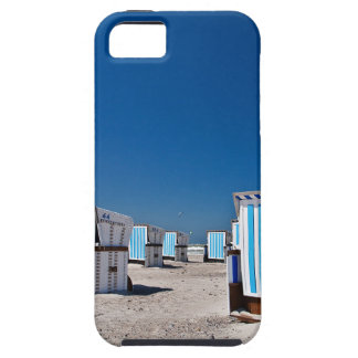 Beach chairs on shore of the Baltic Sea iPhone 5/5S Cases