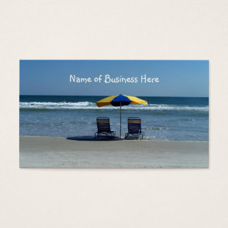 Beach Chairs on The Shoreline Business Card