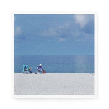 Beach Themed Beach Chairs Paper Napkins