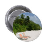 Beach Chairs Pinback Button