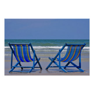 beach chairs posters
