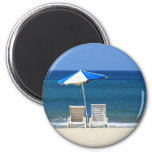 Beach chairs refrigerator magnet