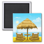 Beach Chairs Refrigerator Magnets