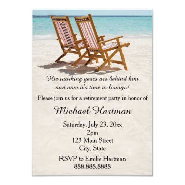 Aloha_Friday Beach Chairs Retirement Party Invitations