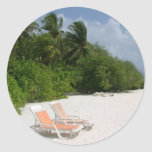 Beach Chairs Round Stickers
