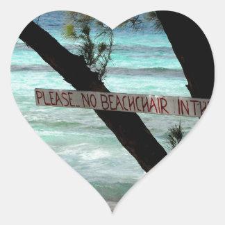 Beach Chairs Rum Point Grand Cayman Heart Sticker