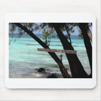 Beach Chairs Rum Point Grand Cayman Mouse Pad
