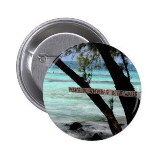 Beach Chairs Rum Point Grand Cayman Pinback Button