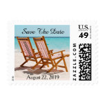 Beach Chairs Save The Date Wedding Postage
