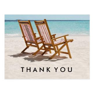Beach Chairs Thank You Postcard