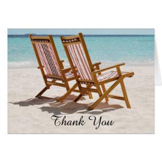 Beach Chairs Wedding Thank You Card