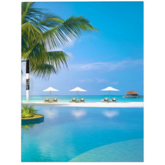 Beach chairs with umbrellas with sunshine Dry-Erase board