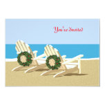 Beach Chairs & Wreaths 5x7 Paper Invitation Card