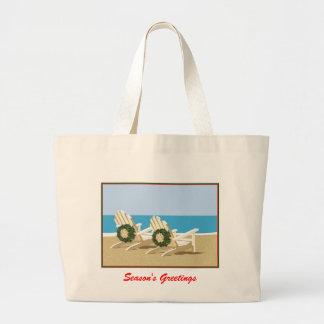 Beach Chairs & Wreaths Jumbo Tote Bag