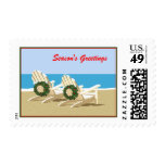 Beach Chairs & Wreaths Postage Stamp