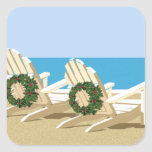 Beach Chairs & Wreaths Sticker