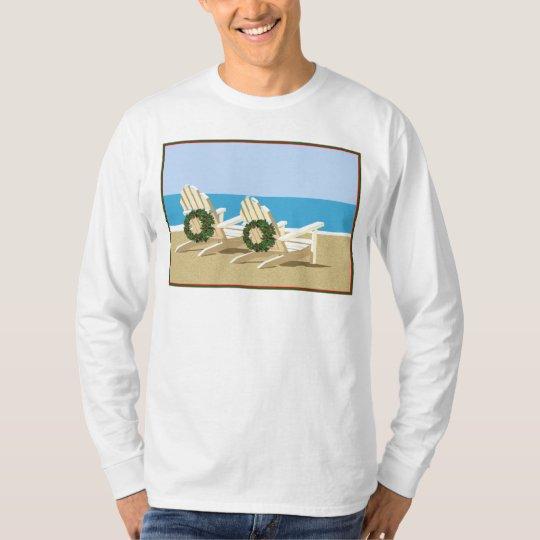 Beach Chairs & Wreaths T-Shirt
