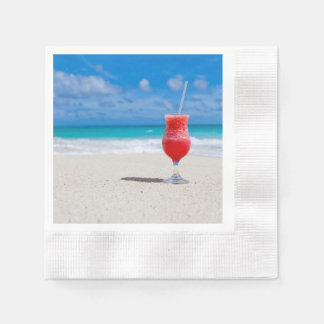 Beach Cheer Coined Cocktail Napkin