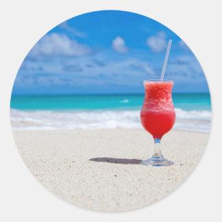 Beach Cheers Classic Round Sticker