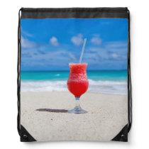 Beach Cheers Drawstring Bag