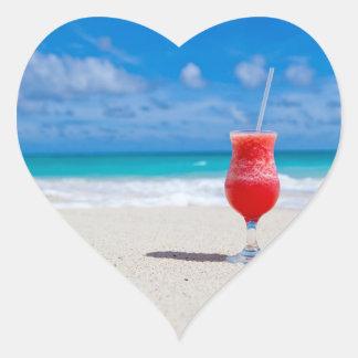 Beach Cheers Heart Sticker