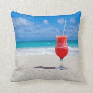 Beach Cheers Throw Pillow