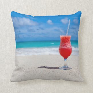 Beach Cheers Throw Pillow