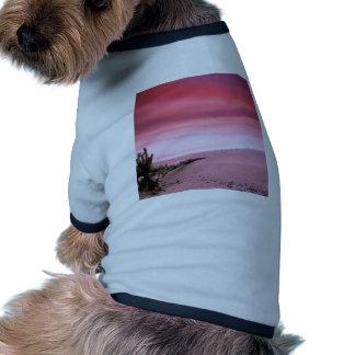Beach Chesapeake Bay Purple Sky Dog T Shirt