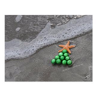 Beach Chic Christmas Postcard