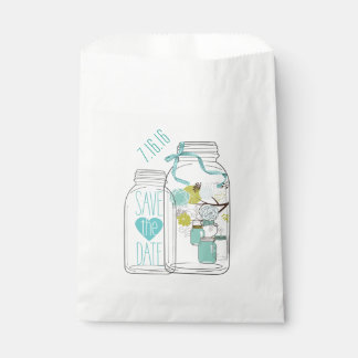 Beach Chic Save the Date Favor Bag