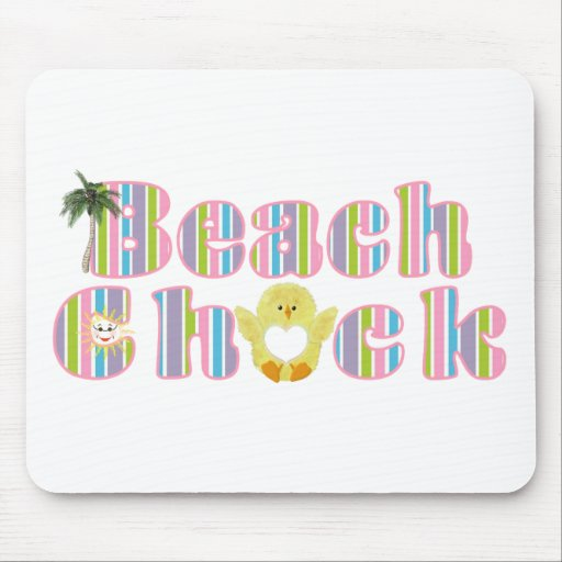 Beach Chick Mouse Pad