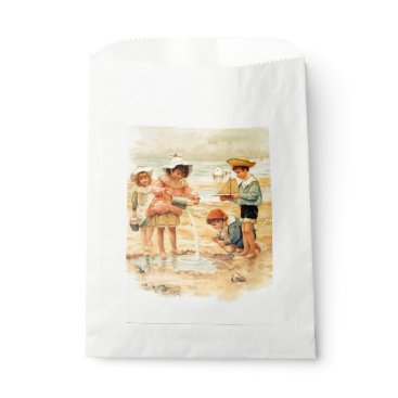 Beach Themed Beach Children Vintage Victorian Sand Favor Bag