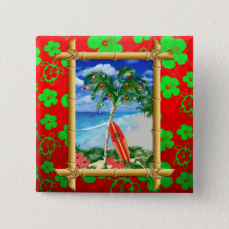 Beach Christmas Button