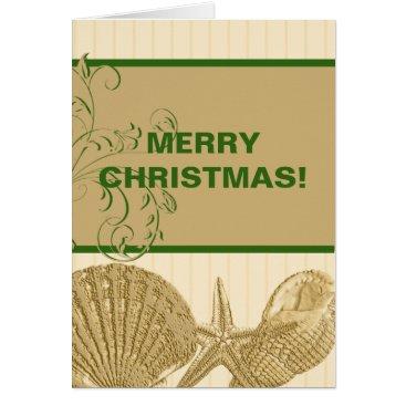 Beach Themed Beach Christmas Card
