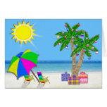 Beach Christmas Cards, Cheery Palm Trees, Sunshine
