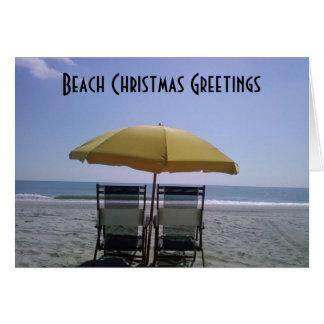 BEACH CHRISTMAS GREETINGS CARD