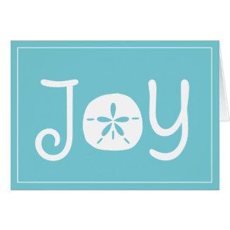 Beach Christmas Holiday Joy Sand Dollar Card