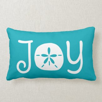 Beach Christmas Holiday Joy Sand Dollar Lumbar Pillow