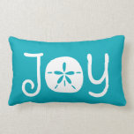 Beach Christmas Holiday Joy Sand Dollar Lumbar Pillow