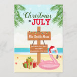 """Beach christmas in july party invitation<br><div class=""""desc"""">Beach christmas in july party invitation</div>"""