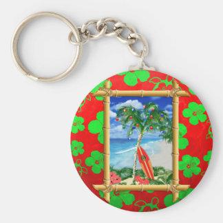 Beach Christmas Key Chains