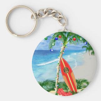 Beach Christmas Key Chain